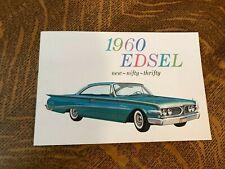 New Listing1960 Edsel Ranger - Villager - Original Color Brochure Catalog- Nifty Thrifty