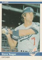 FREE SHIPPING-MINT-1984 (DODGERS) Fleer #117 Steve Yeager