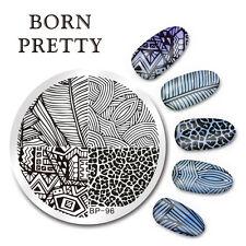 BORN PRETTY Nail Art Stamping  Line Stripe Design Image Plate Stencil DIY BP-96
