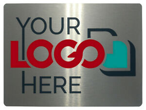 Personalised Your LOGO Metal Aluminium Sign Plaque For Door House Office 20x15cm