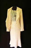 VERA MONT Size 12 14 Pink Ladies Designer Wedding Outfit Skirt Top & Jacket
