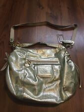 COACH POPPY Metallic Gold Leather Jazzy Convertible Shoulder Purse Bag 20384E