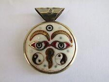 Buddha Eyes Third eyed Yin Yang Pendant BW1