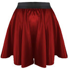 27 Colors Women Girl Satin Short Mini Dress Skirt Pleated Retro Elastic Waist