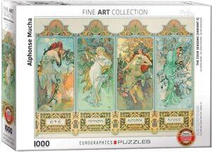 Alphonse Mucha The Four Seasons 1000 piece jigsaw 680mm x 490mm (pz)
