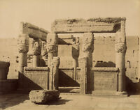 Photo Zangaki Albuminé Egypte Dendérah Vers 1875/80