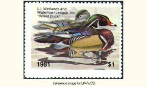 Long Island Wetlands/Waterfowl 1981 $1 Stamp *SALE*