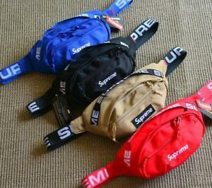 Supreme Unisex SS18 Waist Bag Messenger Bag Chest Bag Top New
