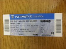 26/09/2013 Ticket: England Women v Turkey Women [At Portsmouth] . Thanks for vie