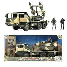 World Peacekeepers Military Anti Aircraft Missile Army Vehicle Toy with 2 figs