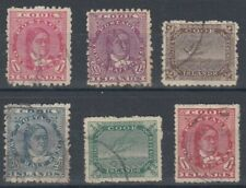 COOK ISLANDS 1902-19 QUEEN/WHITE TERN (x6) DIFFERENT USED (ID:207/D50274)