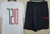 NIKE JORDAN XI RETRO 11 72-10 OUTFIT SHIRT + SHORTS WHITE BLACK RED (SIZE 3XL)