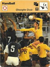 1978 Sportscaster Card Handball Gheorghe Gruia # 30-17 NRMINT/MINT.
