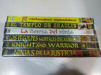 Coleccion 6 peliculas Ninja Karate Templo Shaolin - 6 x DVD Nuevo - T