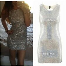 82c80f1c1ffde H&M Silver Holographic Sequin Bodycon Mini Party Dress - Sizes 8 and 12