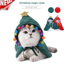 Pet Cat Christmas Clothes Warm Wacky Hoodie Kitten Xmas Costume Cape Outfits