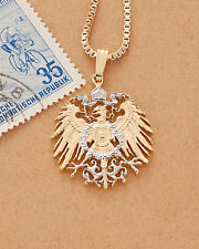 "Germany Eagle Pendant & Necklace German Cut Coin,  7/8"" Diameter , ( # 121 )"