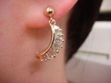 Orecchini con diamanti pendente in oro giallo