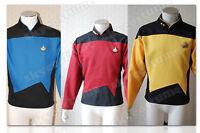 Star Trek TNG The Next Generation Duty Uniform Cosplay Costume Shirt +3 Color