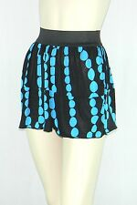 Poly Span Elastic Waist A-line Skater Mini Skirt Juniors MEDIUM S2012_9