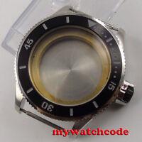 43mm black bezel Watch Case fit eta 2824 2836 miyota 8215 8205 MOVEMENT