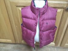 TODDLER GIRL'S RALPH LAUREN REVERSIBLE DOWN VEST-SIZE: 4T