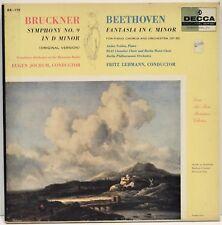 """Jochum Lehman """"Bruckner No. 9 Beethoven Fantasia"""" 2 LP Decca DX 139 Vinyl Record"""