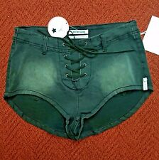 One X One Teaspoon Black Front Tie Closure Jean Shorts Size 27 Retail: $107.00