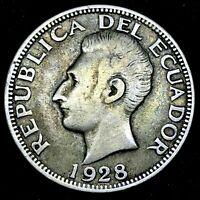 Ecuador - 2 Sucres -1928 Philadelphia Mint - KM-73 - Toned- High Grade - #1