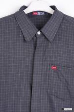 Diesel Men's Cotton Short Sleeve Regular Collar Casual Shirts & Tops