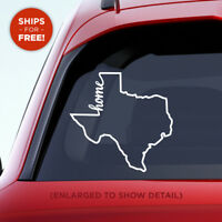 "Texas State ""Home"" Decal - TX Home Car Vinyl Sticker - Add a heart over a city!"