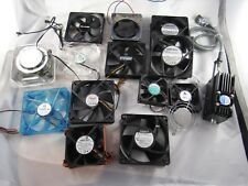 Lot of 14 Electronics Cooling Fans Minebea Intel Papst Rosewill Delta