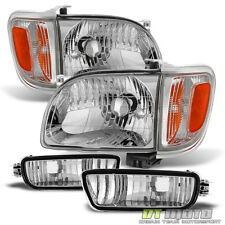 For 2001-2004 Toyota Tacoma Headlights+Corner Parking Signal Lights+Bumper Lamps