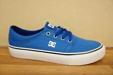 DC Trase TX Mens Size 7 Blue White Canvas Skate Street Shoes Trainers BNWB NEW
