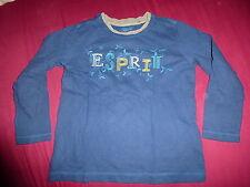 ESPRIT T-Shirt Langarm Langarmshirt Gr. 104 110 blau TOP!