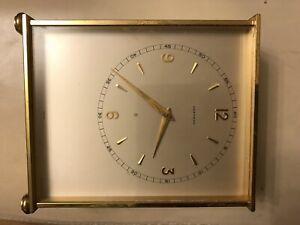 GARRARD Vintage desk Winding clock. Swiss Made. Faulty