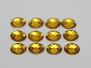 250 Acrylic Flatback Faceted Oval Rhinestone Gem 8X10mm No Hole Color for Choice