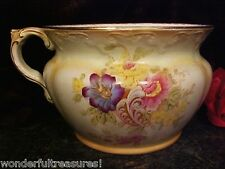 BEAUTIFUL Antique Chamber Pot Planter Crown Devon Ware S. F. & Co. ENGLAND