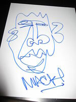 MACKLEMORE HAND SIGNED SKETCH IN PERSON CANT HOLD US ORIGINAL ARTWORK THRIFTSHOP