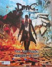 DEVIL MAY CRY - Original Video Game Poster MINT San Diego Comic Con SDCC 2012