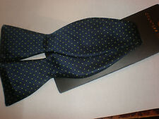 COUNTESS MARA BLUE WITH GREEN DOTS BOW TIE NEW WITH TAG