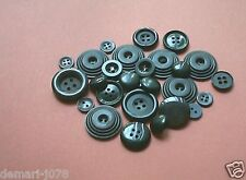 Pk of Black Assorted Buttons -  1cm - 2.5cm, Sewing, Jewellery Making, Crafts
