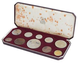 1953 ROYAL MINT King George VI PROOF SET in original box coins