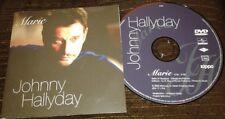 JOHNNY HALLYDAY DVD PROMO HC 3083 CLIP MARIE RESERVE ET LIMITE TABAC ZIPPO