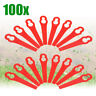 100Pcs Plastic Replacement Blade Line Trimmer Garden Mower For Grass Lawnmower