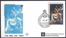 SMOM 1983 FDC Anno Santo 1° Serie