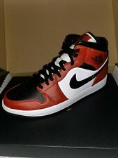 Nike Air Jordan 1 Mid Retro Chicago Toe UK 7.5 US 8.5 Brand New With Receipt