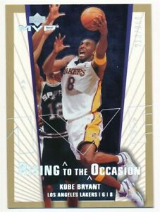 KOBE BRYANT 2003/04 UD MVP #1 RISING TO THE OCCASION GOLD LAKERS SP #213/250