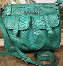 guess  By  Marciano Fabrizia Tea Green Python Leatherettte Crossbody Hand Bag
