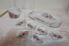 Antique Carlsbad AK China Austria Bread serving tray sm.6 dipping Plates and Cup